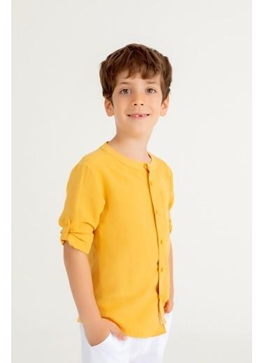 Pinolini Sarı Keten Gömlek Sarı